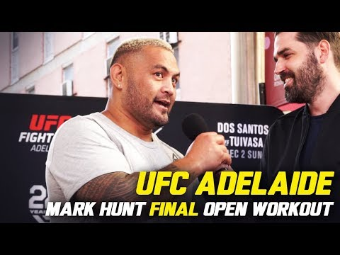 Mark Hunt's Final Ever UFC Open Workout | UFC FIGHT NIGHT ADELAIDE