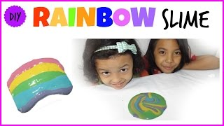 RAINBOW HOLY SLIME ♥ BAHASA | HOW TO MAKE RAINBOW HOLY SLIME