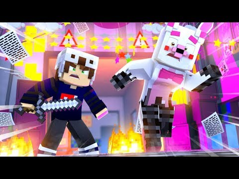 Minecraft Fnaf Daycare: Mangle Gets Attacked?! (Minecraft Roleplay)