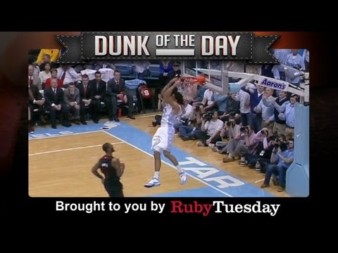 UNC James Michael McAdoo Reverse Dunk vs N.C. State - Ruby Tuesday Dunk of the Day
