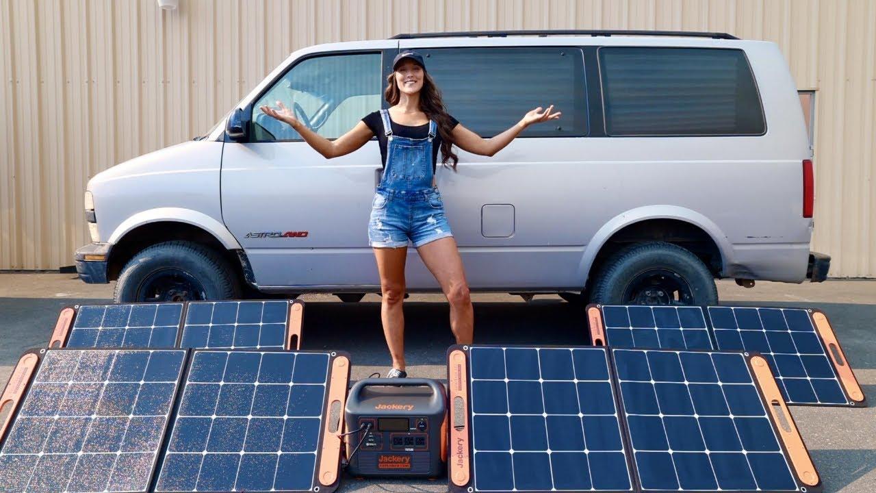 Easy Solar Panel Portable Power Station for Van Life, Off Grid Living, Overlanding, RV Jackery 1500