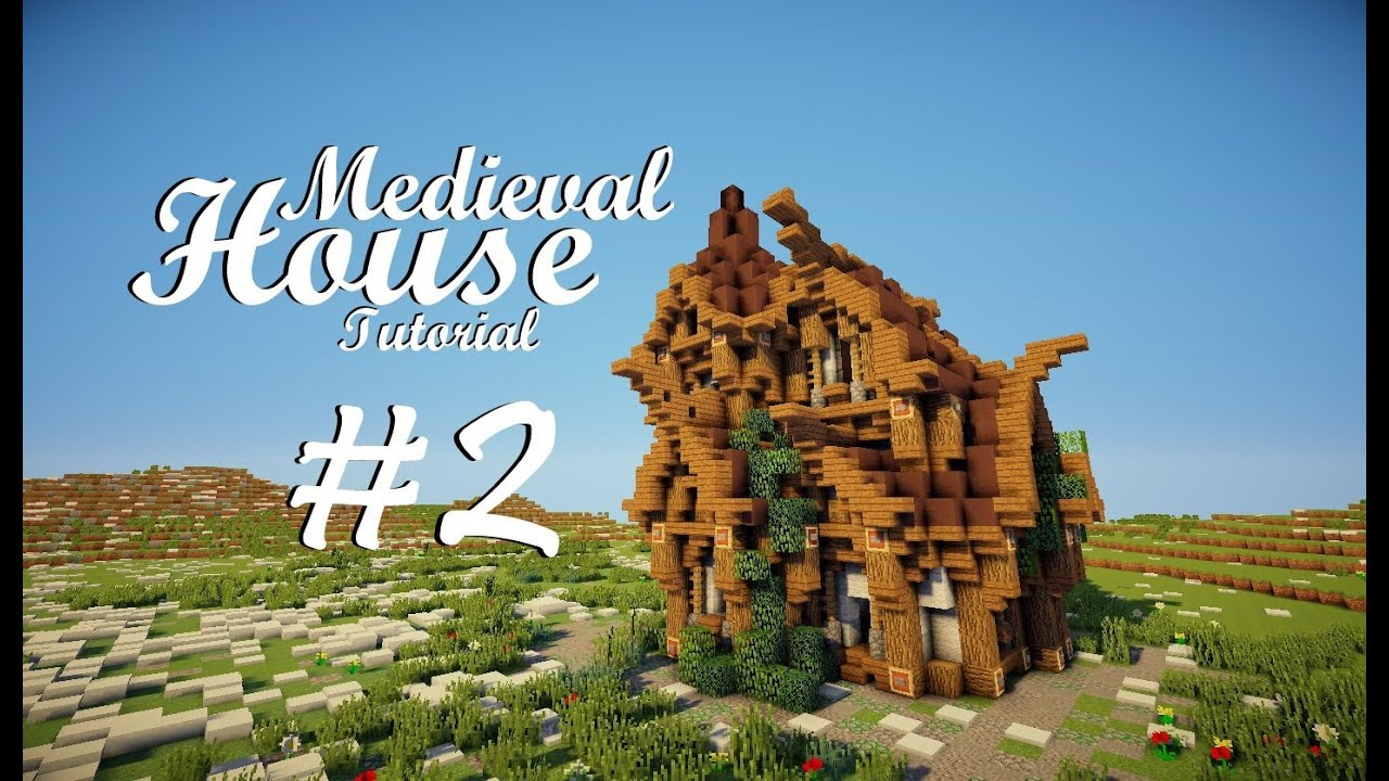 Minecraft Tutorial Medieval House Part 2 Roofing Design 1 Youtube