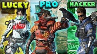 LUCKY vs PRO vs HACKER  - Apex Legends Funny Moments #5