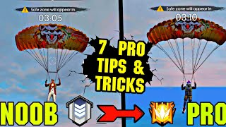 7 BEST TIPS AND TRICK || NOOB TO PRO || EASY RANK PUSH TIPS|| STREAMER SHOWDOWN ||GARENA FREE FIRE