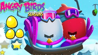 NEW Angry Birds Seasons Update – Ski or Squeal! Golden Eggs ! !