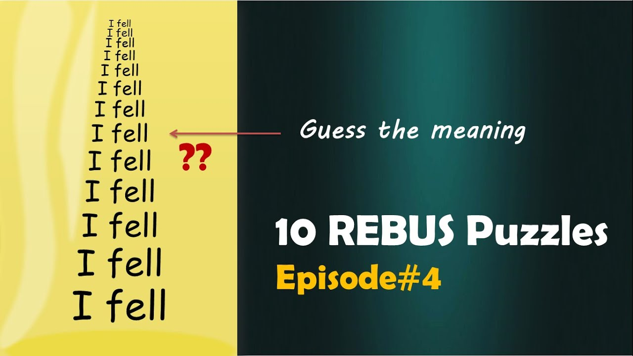 Can you solve them ?    10 REBUS Puzzles Episode #4 - YouTube