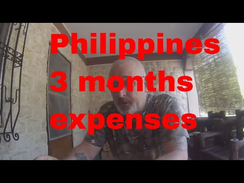 Expenses first three months in the Philippines