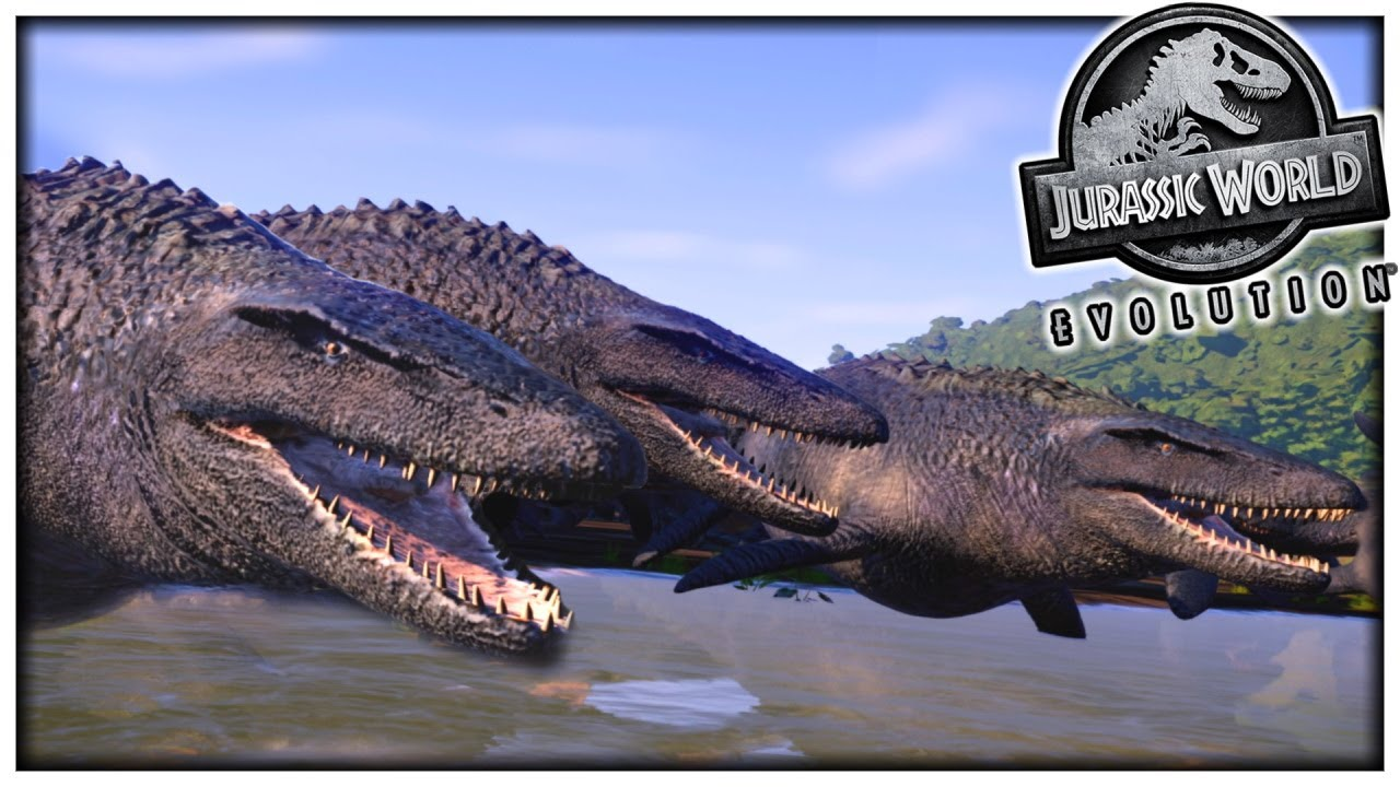 Download MOSASAUR RIVER! | How Many Mosasaurs Is Too Many Mosasaurs?? | Jurassic World Evolution
