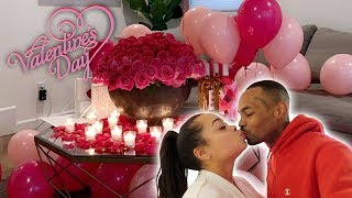 I SURPRISED MY GIRLFRIEND ON VALENTINES DAY!! | HEATHER AND TRELL
