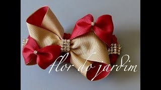 DIY- Laço Fofucho – Bow Tie for Princess – grosgrain ribbon bow