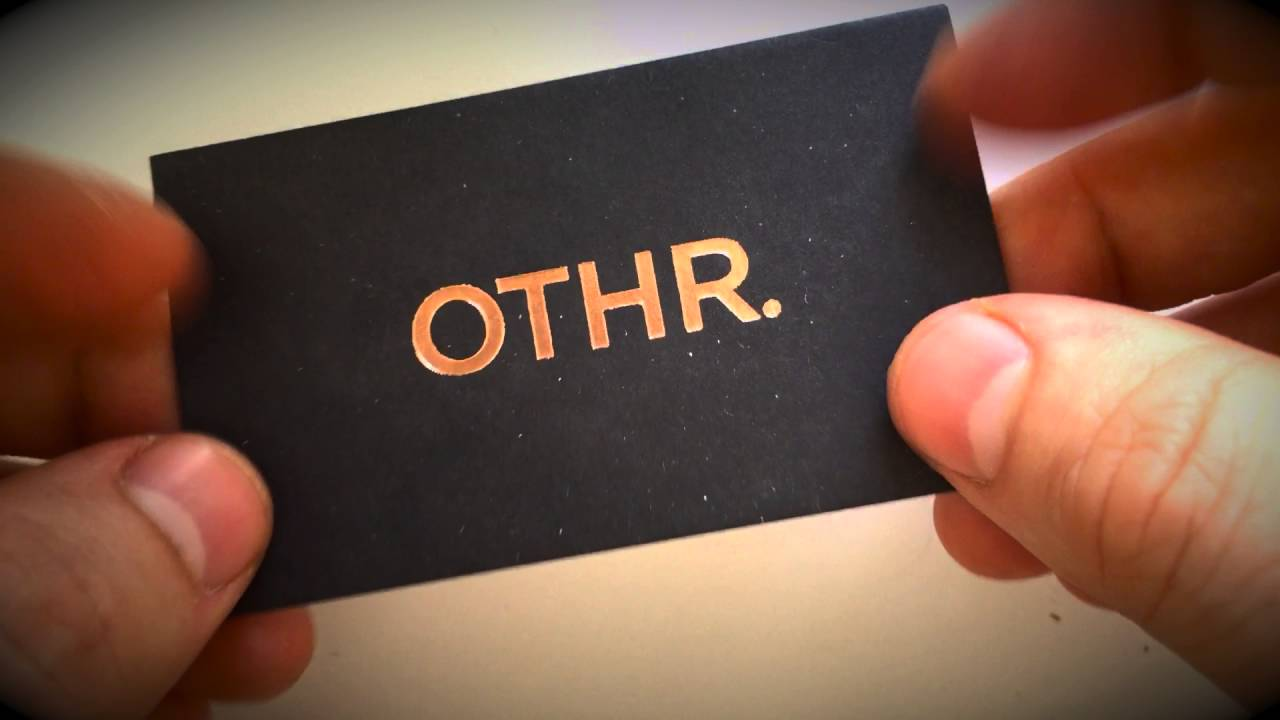 Copper foil business cards (rose gold) - YouTube