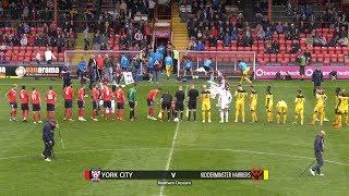 York City 0-3 Kidderminster Harriers (15/09/2018)