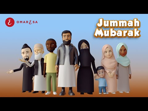 Omar Esa - Jummah Mubarak Nasheed | 3D Islamic Cartoon