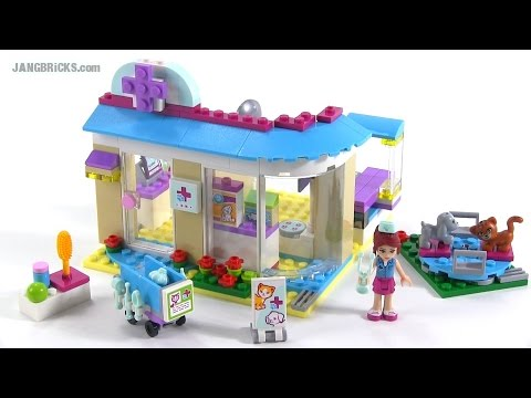 Lego Friends 2015 Vet Clinic Review Set 41085 Youtube