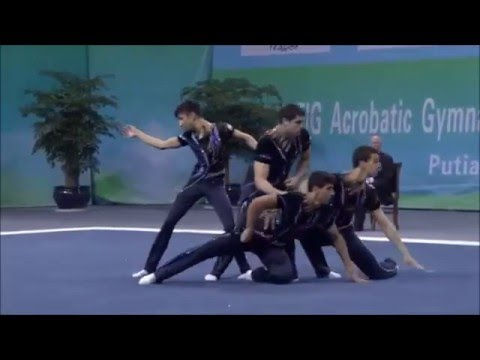 Israel men's group acrobatics silver medalists world championship 2016