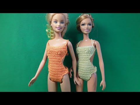 Купальник для Барби. Урок вязания. Barbie Crochet. Мастер-класс.