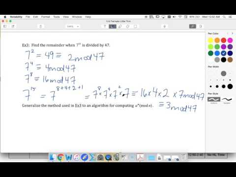 IB Further 6.6 Ex 3 Find an algorithm when dividing a power