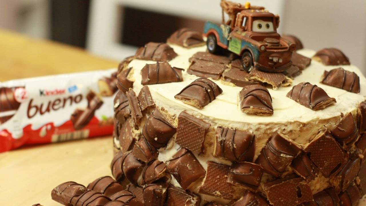 Tort Kinder Bueno Złomek Cars Cake Youtube
