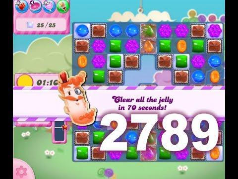 Candy Crush Saga Level 2789 (3 stars, No boosters)