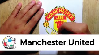 Dibujo del logo del Manchester United FC.