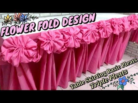 FLOWER Fold Design |Table Skirting Basic Pleats