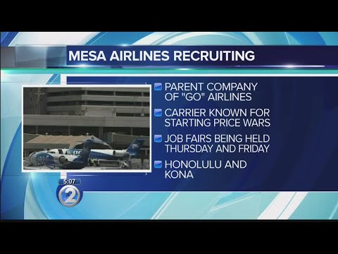 Mesa Airlines holds hiring events for pilots in Kailua-Kona, Honolulu