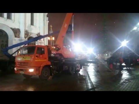Аренда автокрана 32  тонны в Москве, пример работы
