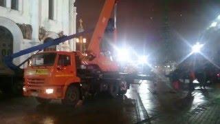 видео аренда автокрана 25 тонн москва