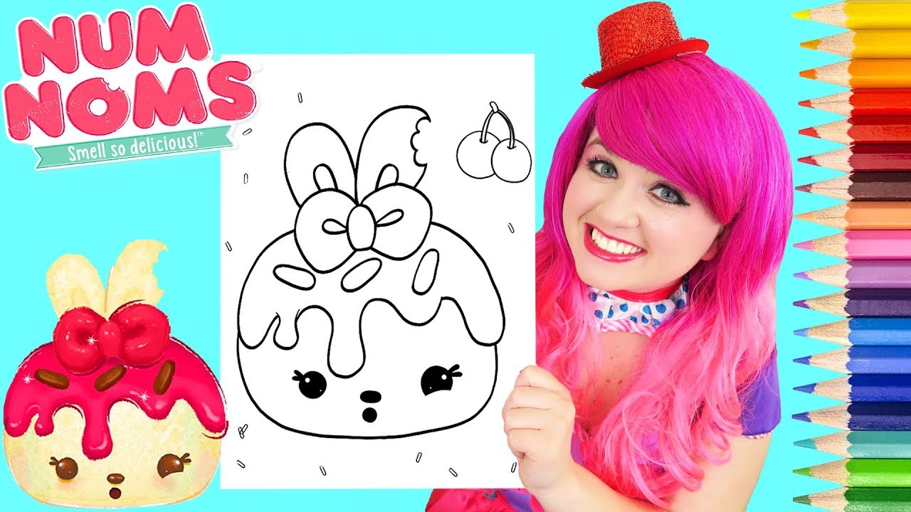Coloring Num Noms Cheery Cherie Book Page Prismacolor Pencils
