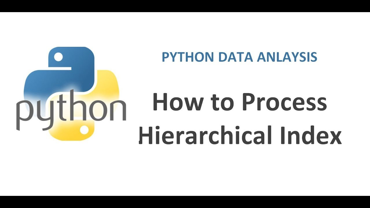 Python Pandas Tutorial 22   How to Process Hierarchical Index