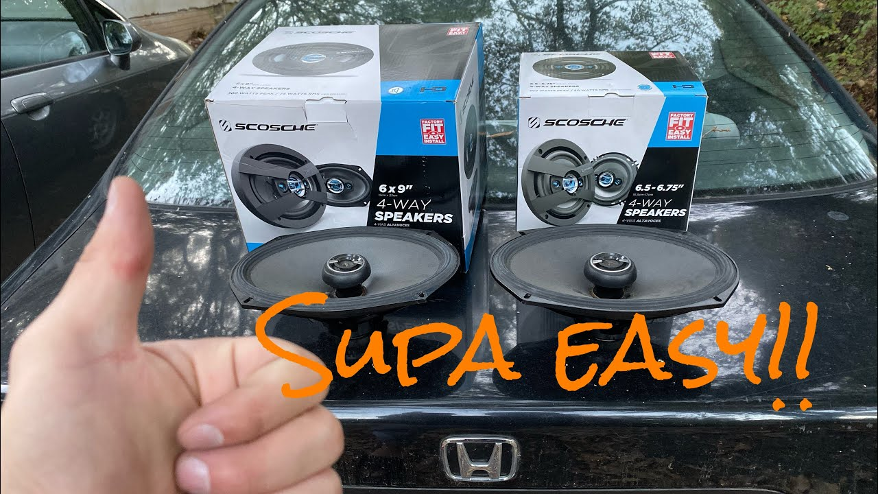 how to install speakers for 95 00 honda civic youtube. Black Bedroom Furniture Sets. Home Design Ideas