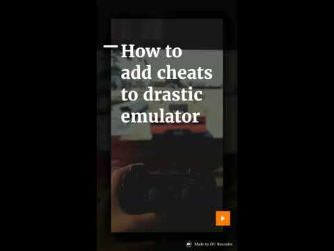 How to add cheats to Drastic Emulator.