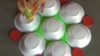 Very easy rangoli designs with bowls // ...