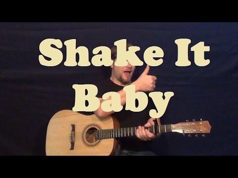 Shake It Baby (John Lee Hooker) Guitar Lesson Easy Strum Chord Licks How to Play Tutorial