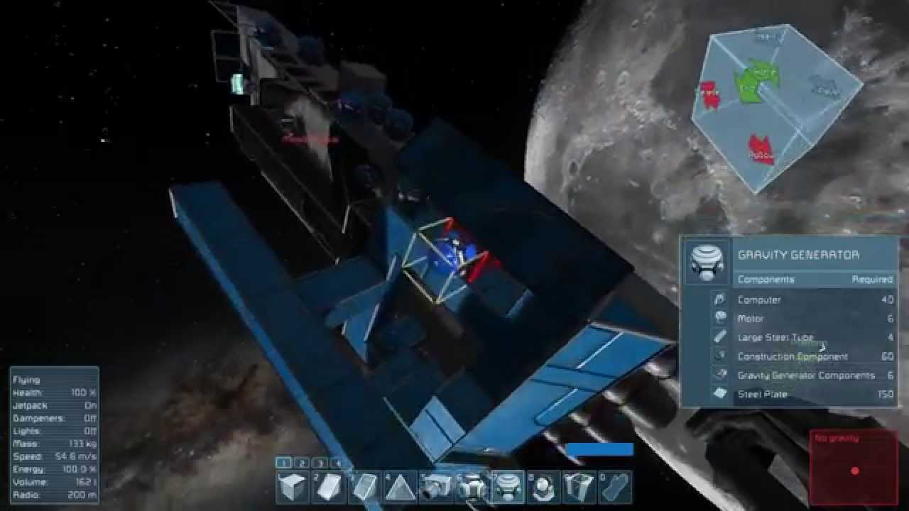 Stealing the Space Ship in Space Engineers