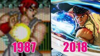 Evolution of Ryu's Hadouken (1987-2018)