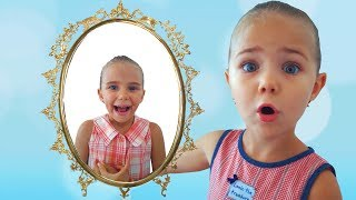 Mirror grants wishes of Elina and Julia Kids pretend play video