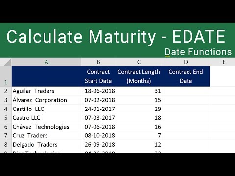 how to put expiry date in excel