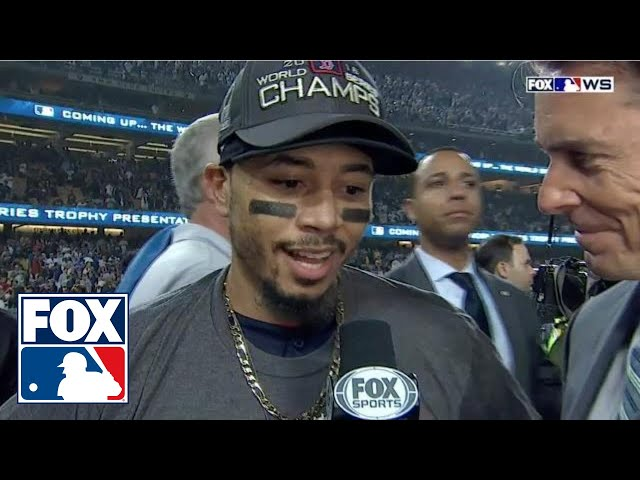 Mookie Betts: It's a 'dream come true' to be crowned World Series Champion | FOX MLB