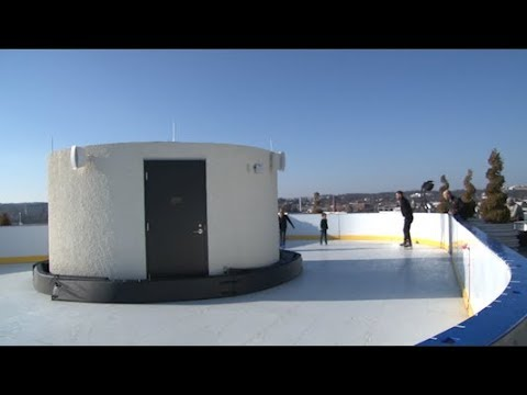 Rooftop skating montgomery county man opens ice rink on for Is the watergate hotel still open