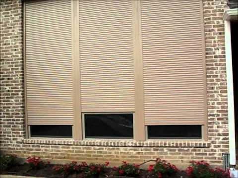 Security shutters dallas for home house motorized rolling metal shutters youtube - The rolling shutter home in bohemia ...