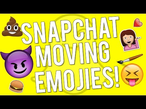 Snapchat Update v9.28.0.0 - How to Use 3D Stickers on Snapchat (Moving Emojis)