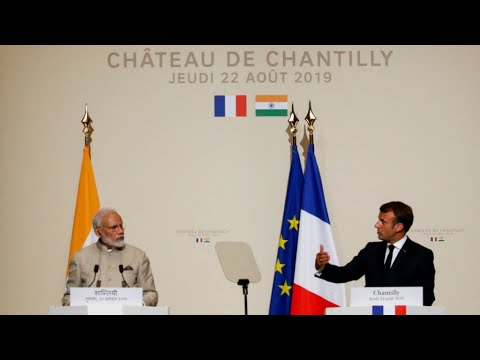 Macron urges India's Modi to ensure the rights of Kashmir civilians are respected