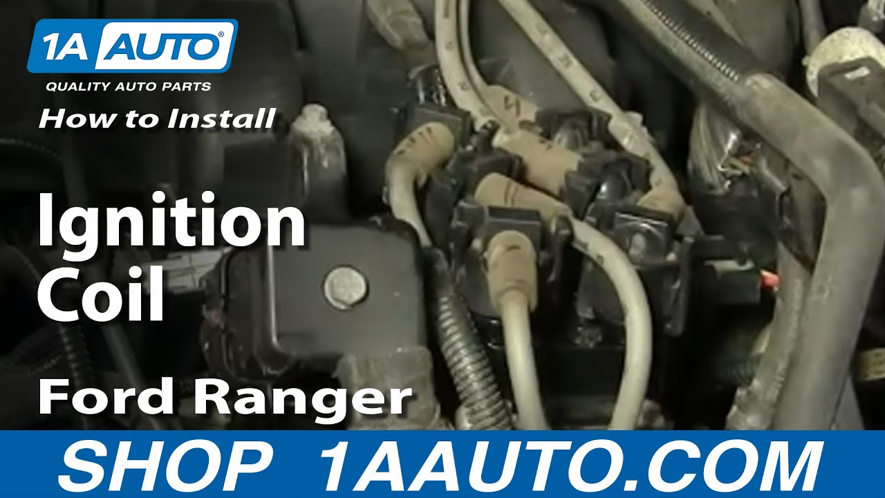 How To Install Replace Ignition Coil 9110 Ford V6 30L 40L 42L 1AAuto  YouTube