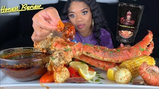 SEAFOOD MUKBANG WITH BLOVE NEW SMACKALICIOUS SAUCE | REVIEW 😱