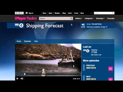 Shipping Forecast BBC. Inglés Capitán de Yate Online
