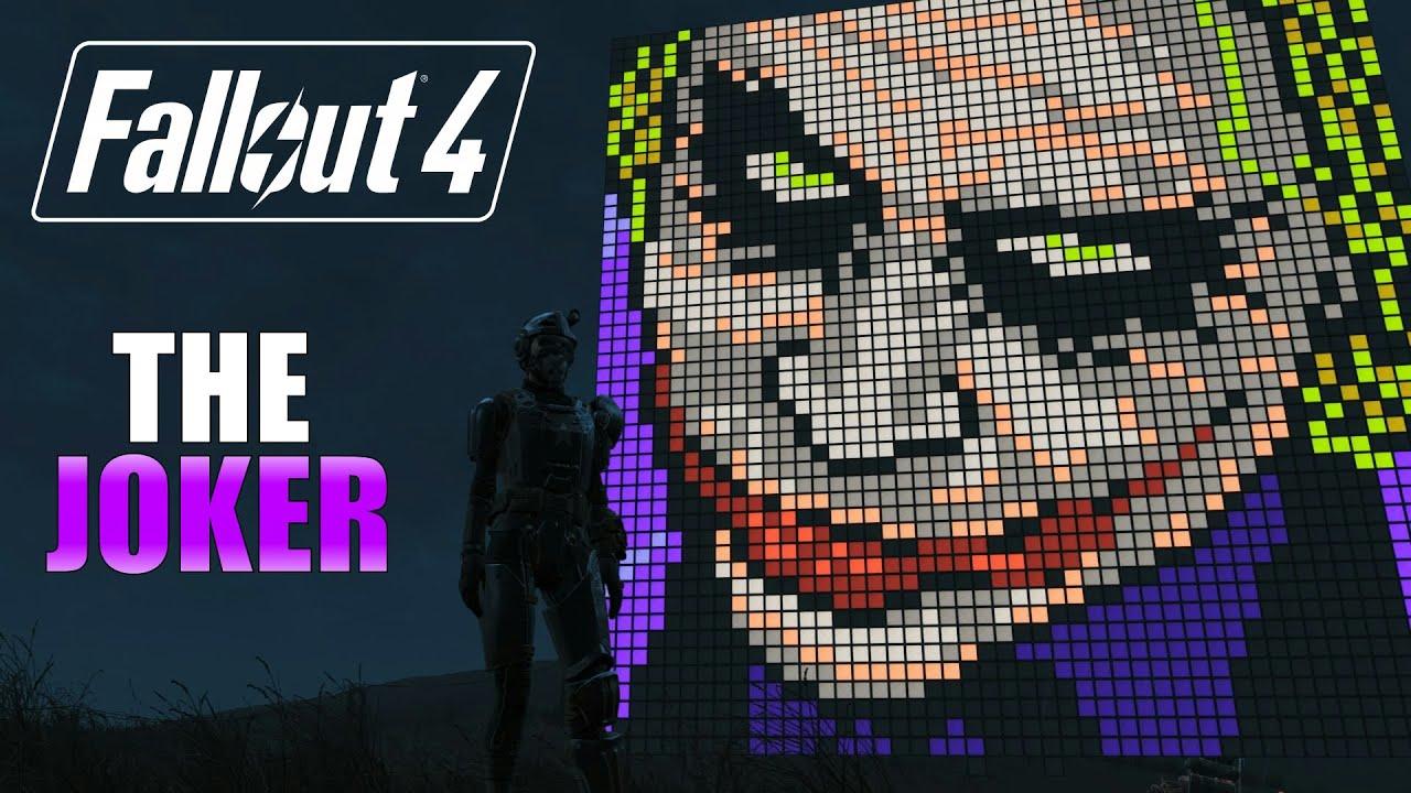 Fallout 4: Feature Pixel Art: The Joker