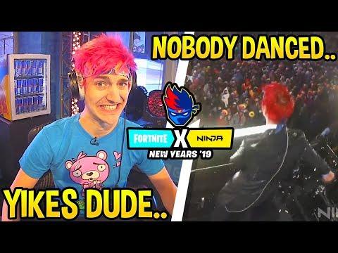NINJA *CRINGE* FLOSS DANCE GOES WRONG! - Ninja New Years FUNNY and EMBARRASSING Moments