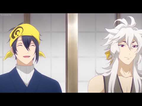 every time mikazuki laughs (anime)