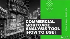 Using the Commercial Mortgage Loan Analysis Excel Model
